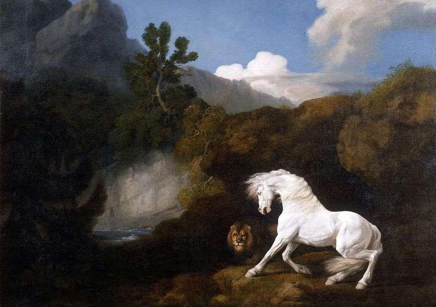 الحصان الأبيض ، خائف من قبل الأسد   جورج ستابس