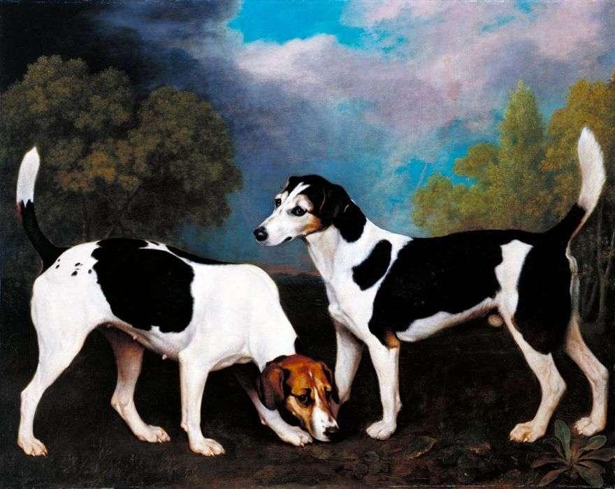 المشهد مع كلاب الصيد   جورج ستابس