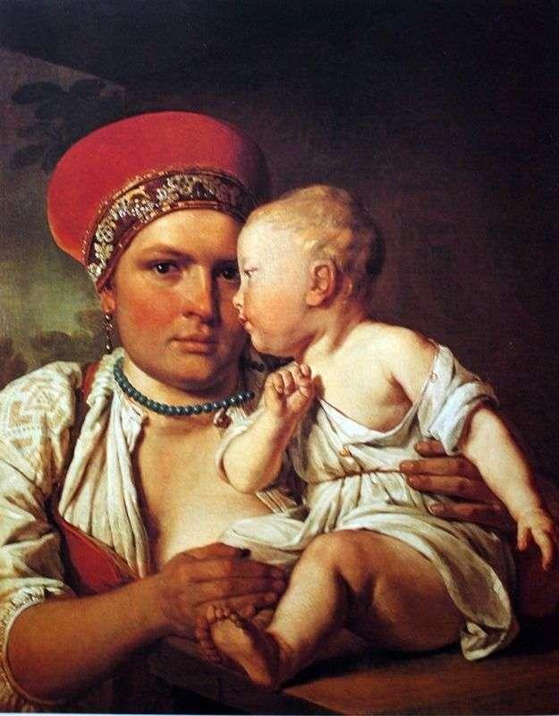 الممرضة الرطبة مع الطفل   أليكسي فينيتسيانوف