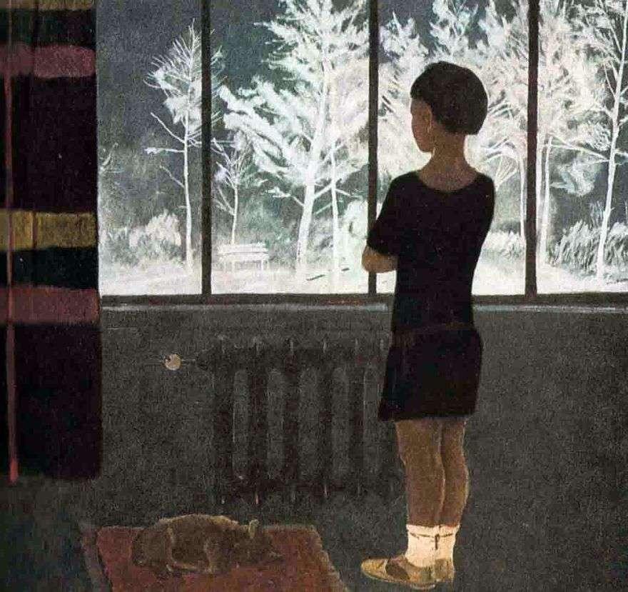 فصل الشتاء. الفتاة في النافذة   الكسندر Deineka