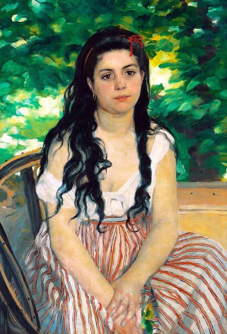 الصيف (فتاة الغجر)   بيير اوغست رينوار