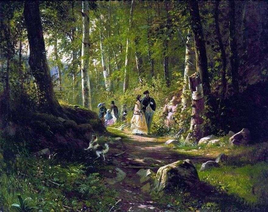 المشي في الغابة   إيفان شيشكين