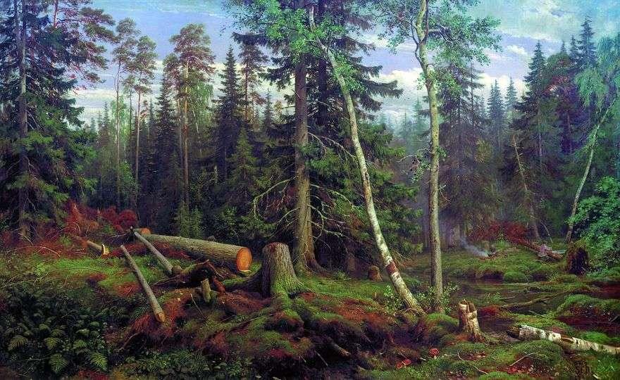 قطع الخشب   إيفان شيشكين