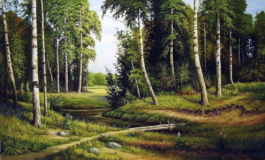 الخور في غابة البتولا   إيفان شيشكين