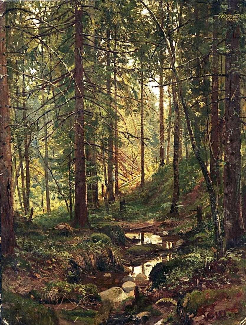 تيار في الغابة. سيفيرسكايا   إيفان شيشكين