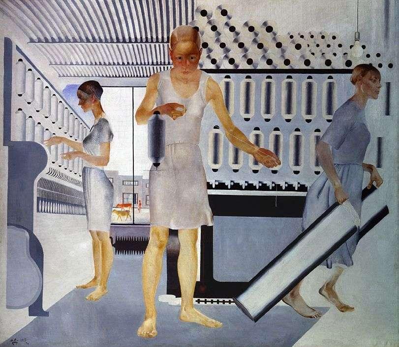 عمال النسيج   الكسندر داينكا