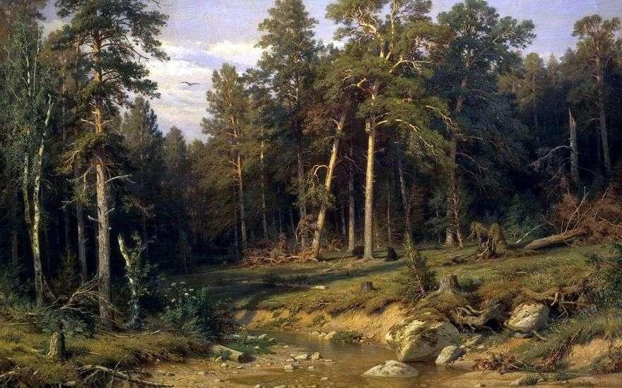 غابة الصنوبر. غابة الصاري في مقاطعة فياتكا   إيفان شيشكين