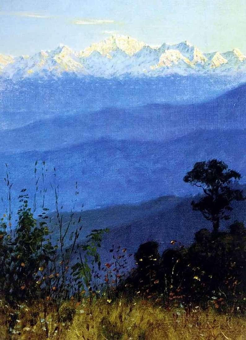 جبال الهيمالايا في المساء   فاسيلي Vereshchagin