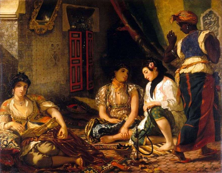 النساء الجزائريات في غرفهن   يوجين ديلاكروا