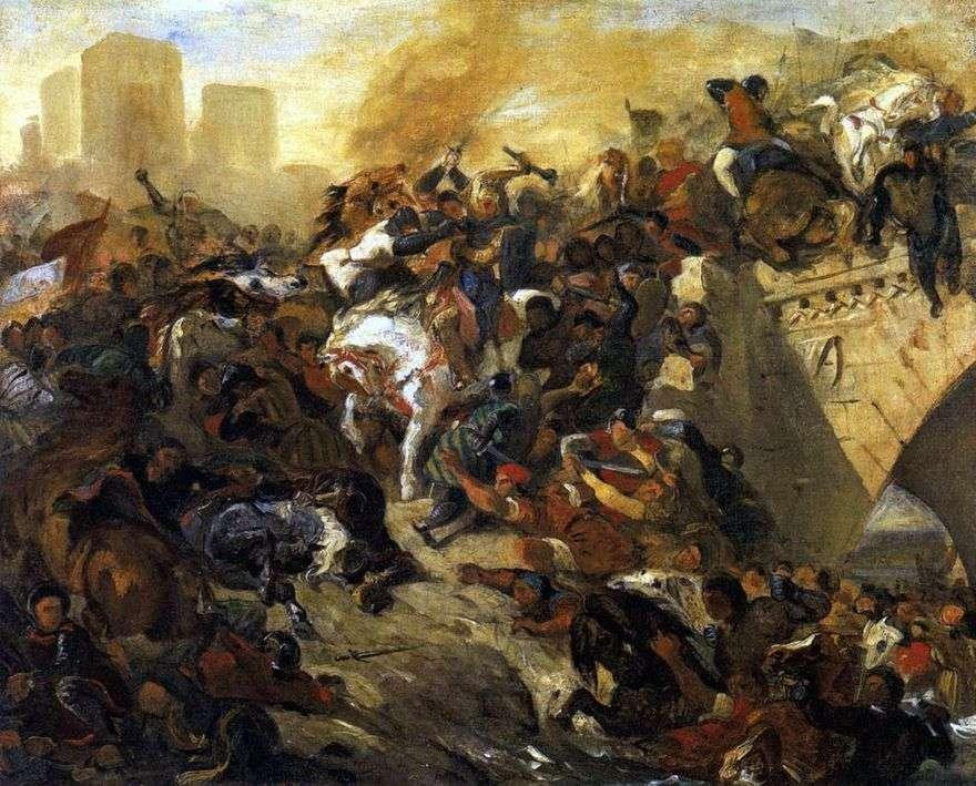 معركة تايبور   يوجين ديلاكروا