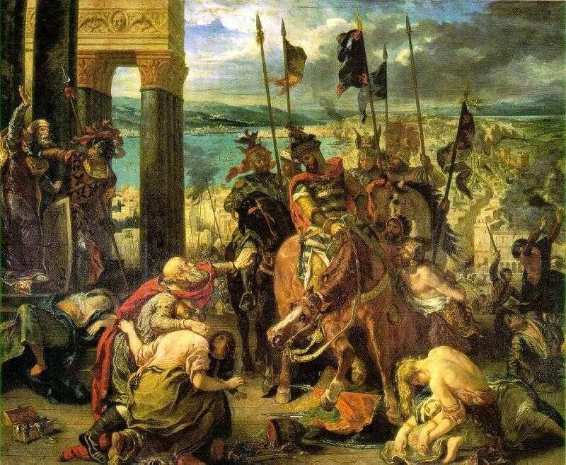 القبض على الصليبيين من القسطنطينية   يوجين ديلاكروا
