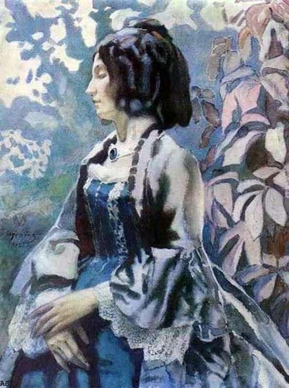 سيدة باللون الأزرق   فيكتور بوريسوف موساتوف