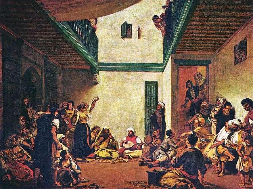 عرس يهودي   يوجين ديلاكروا