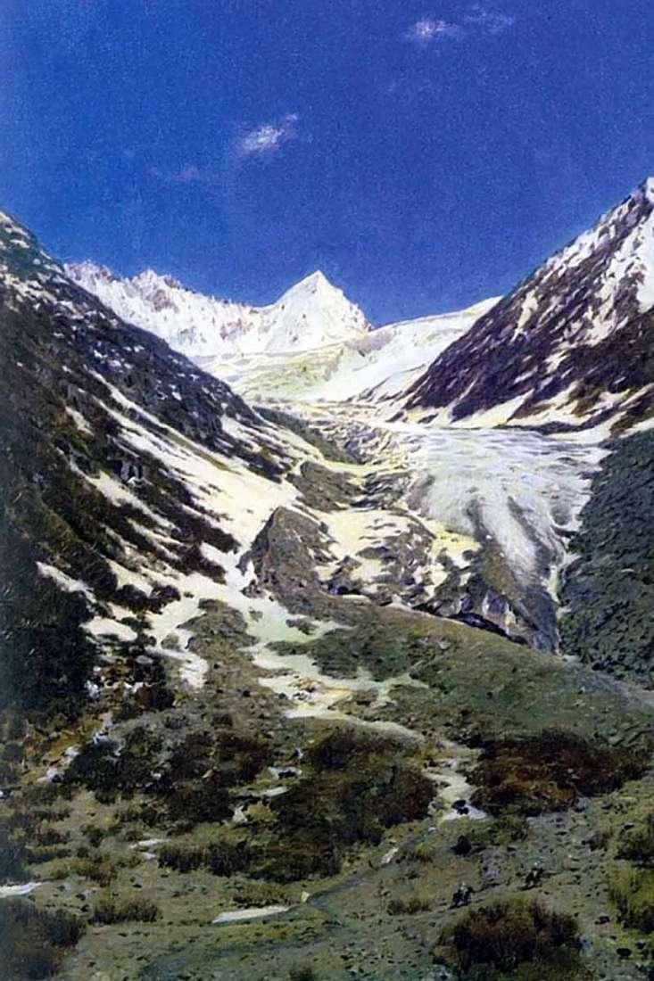 نهر جليدي على الطريق من كشمير إلى لاداخ   فاسيلي فيريشاجين