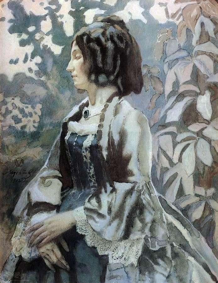 امرأة باللون الأزرق   فيكتور بوريسوف موساتوف