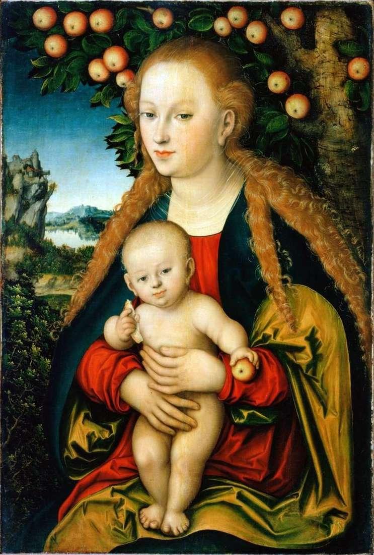 مادونا والطفل تحت شجرة تفاح   Lukas Cranach