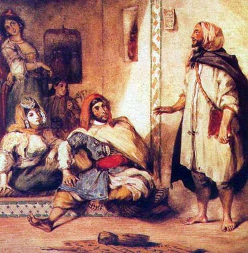 الأسرة المغربية   يوجين ديلاكروا