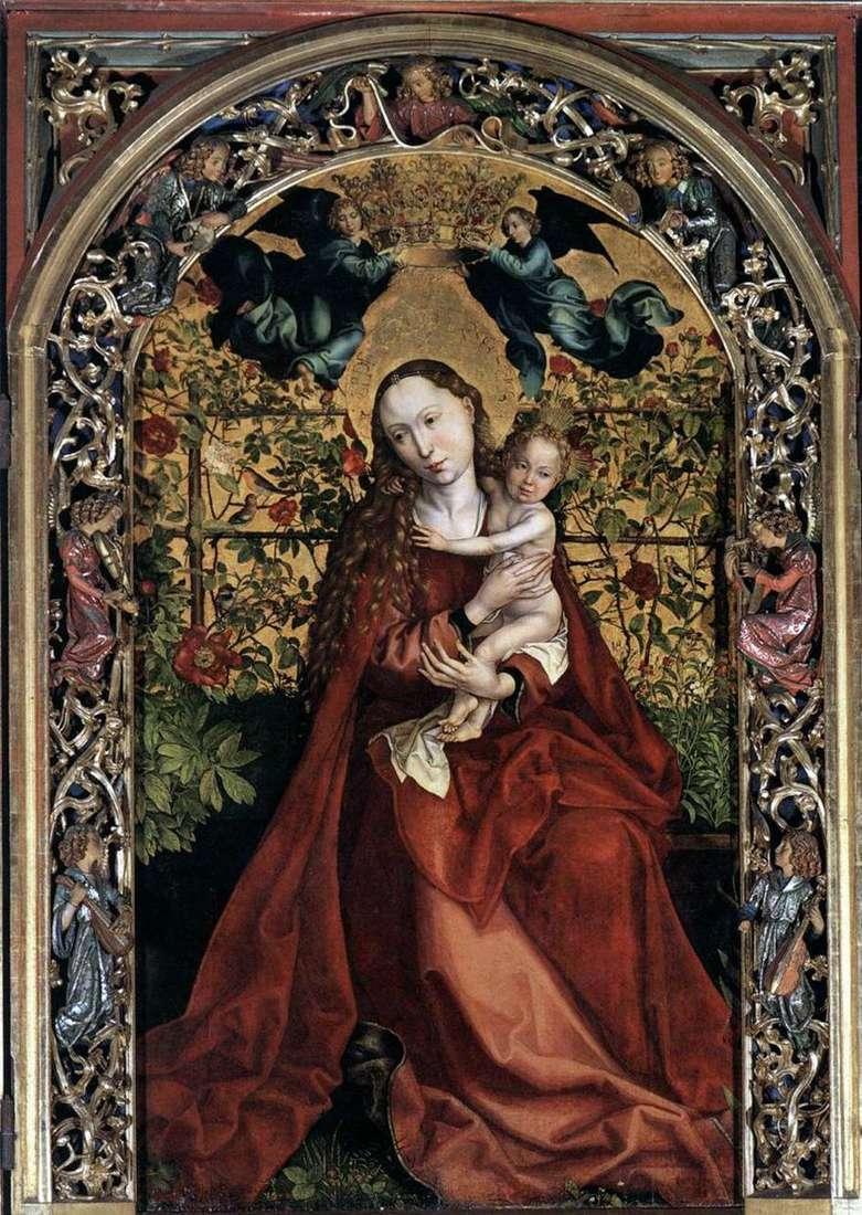 مادونا في الشجرة من الورود   مارتن Schongauer
