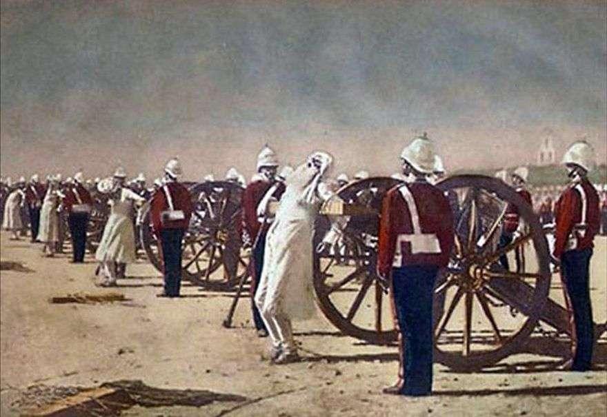 قمع الانتفاضة الهندية من قبل البريطانيين   فاسيلي فيريشاجين