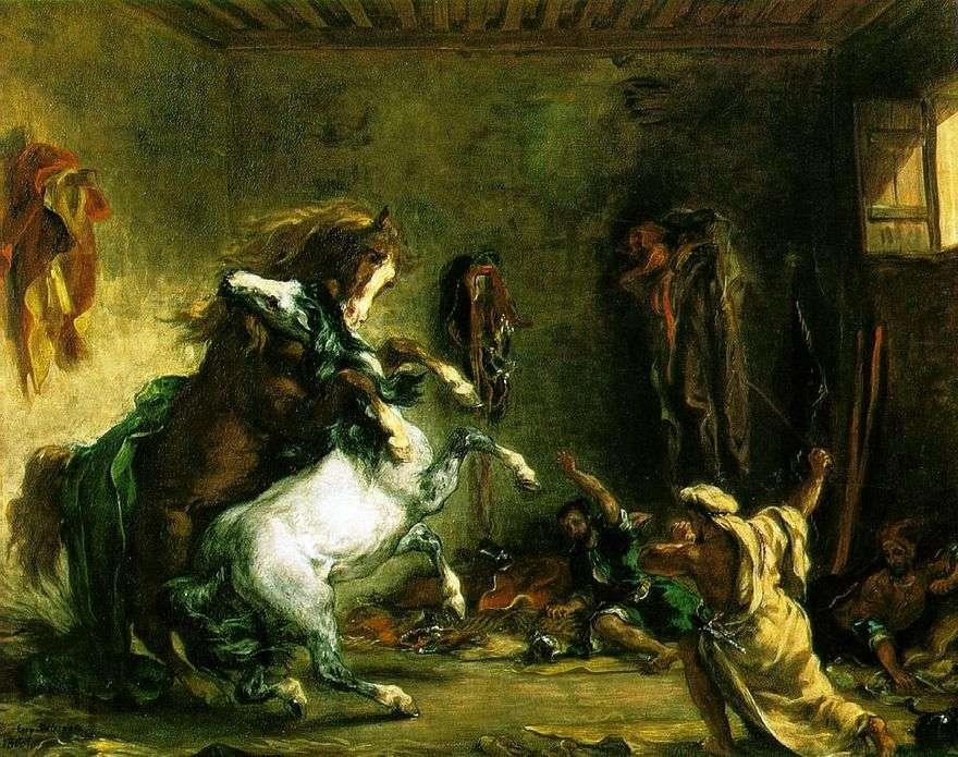 معركة الخيول العربية   يوجين ديلاكروا
