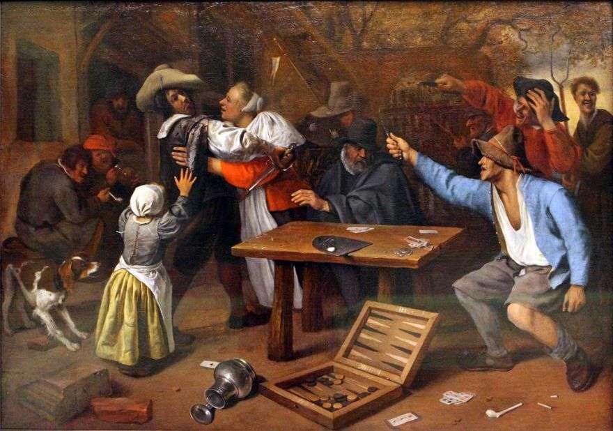 الخلاف حول لعبة الورق   جان ستين