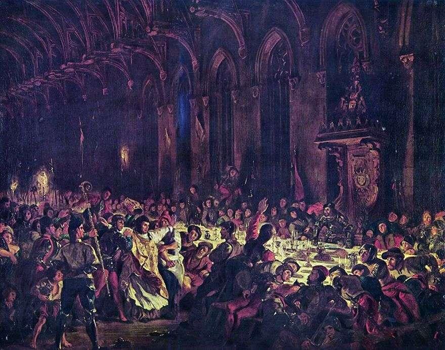 اغتيال رئيس أساقفة لييج   يوجين ديلاكروا
