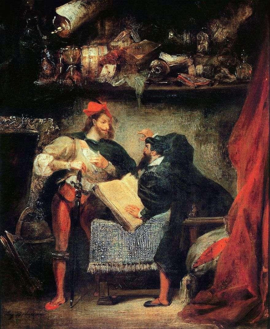 Faust و Mephistopheles   يوجين ديلاكروا