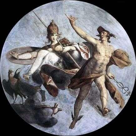 هيرميس وأثينا   بارثولوموس سبانجر