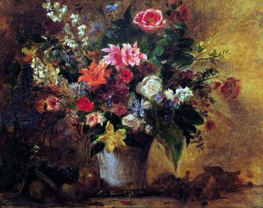 الزهور والفواكه   يوجين ديلاكروا