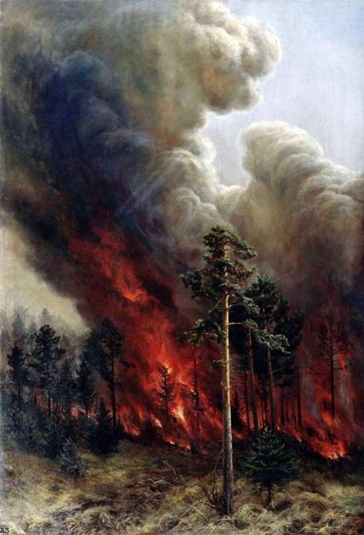 حرائق الغابات   أليكسي دينيسوف أورالسكي