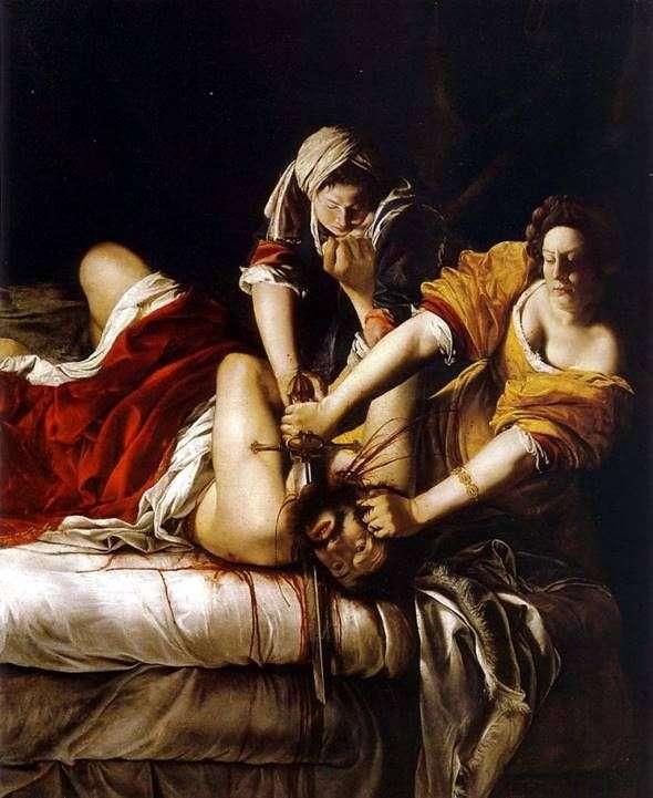 جوديث مقطوعة رأس Holofernes   الأرتميس Gentileschi
