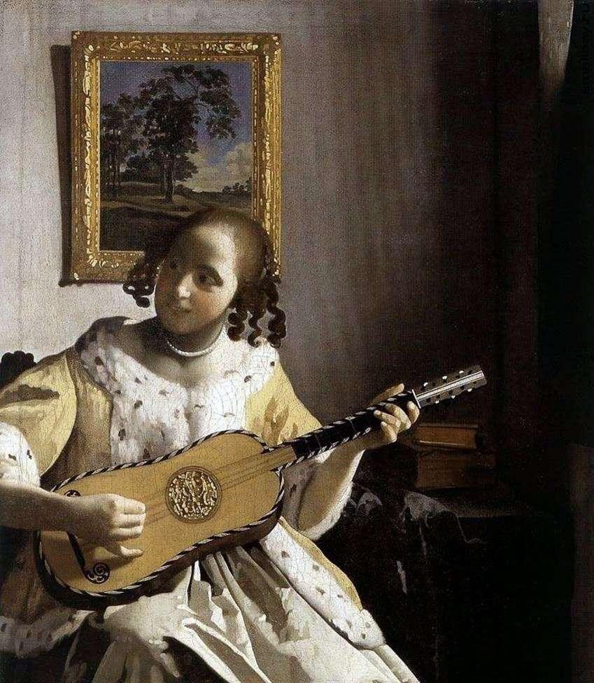 امرأة شابة مع الغيتار   يان فيرمير