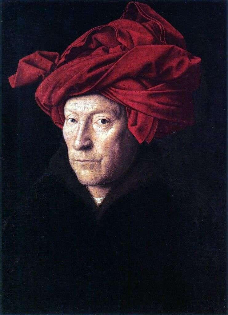 صورة لرجل يرتدي عمامة حمراء   جان فيرمير