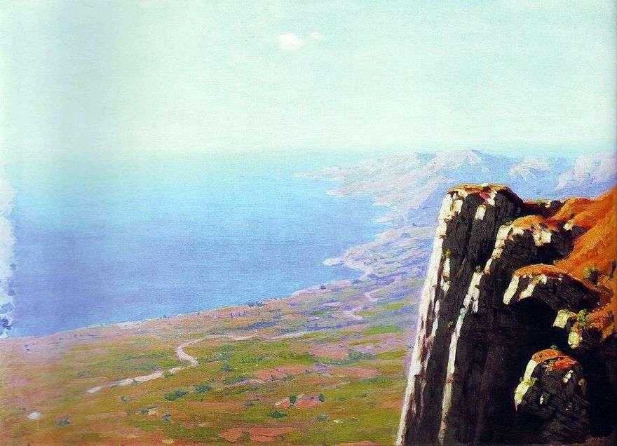 ساحل البحر مع صخرة   Arkhip Kuindzhi