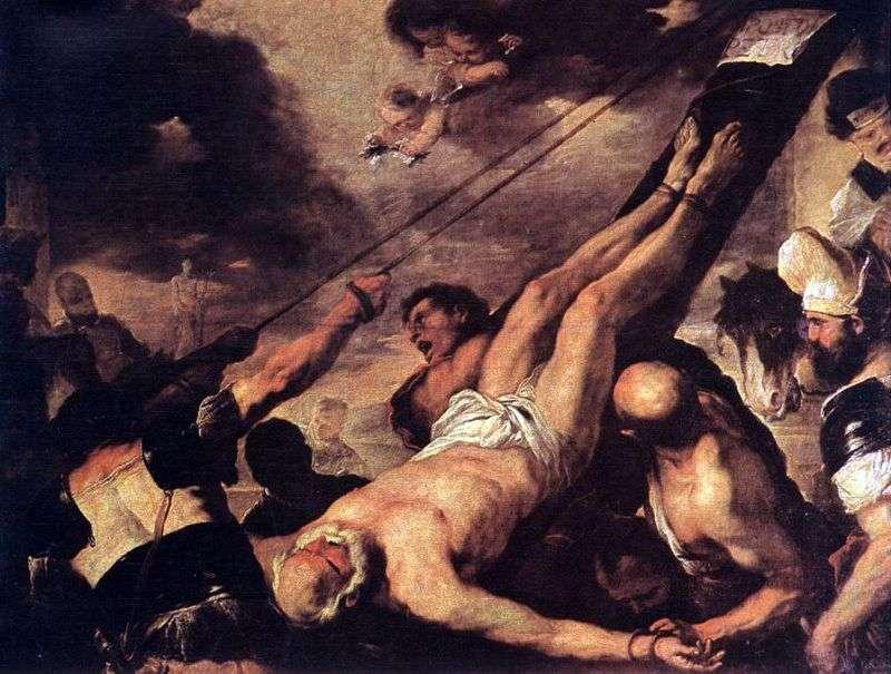صلب القديس بطرس   لوكا جيوردانو