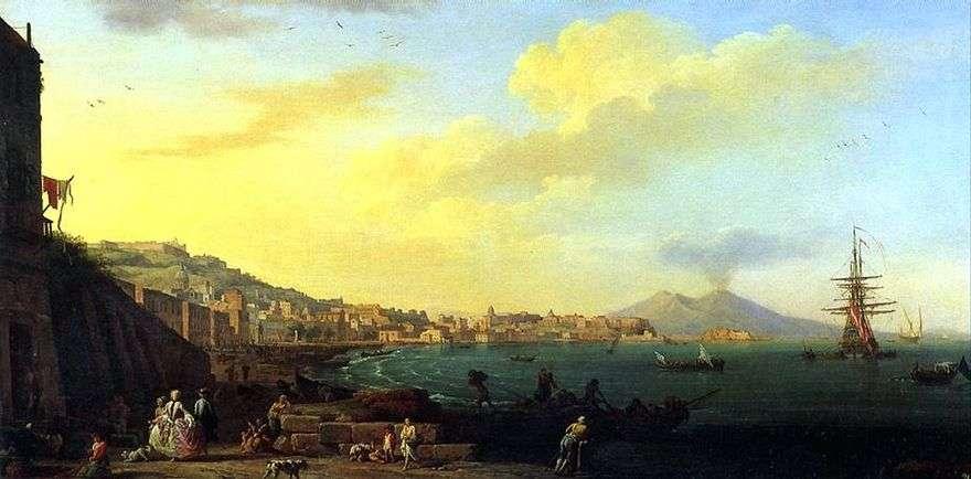 منظر لنابولي مع فيسوفيوس   كلود فيرنيه