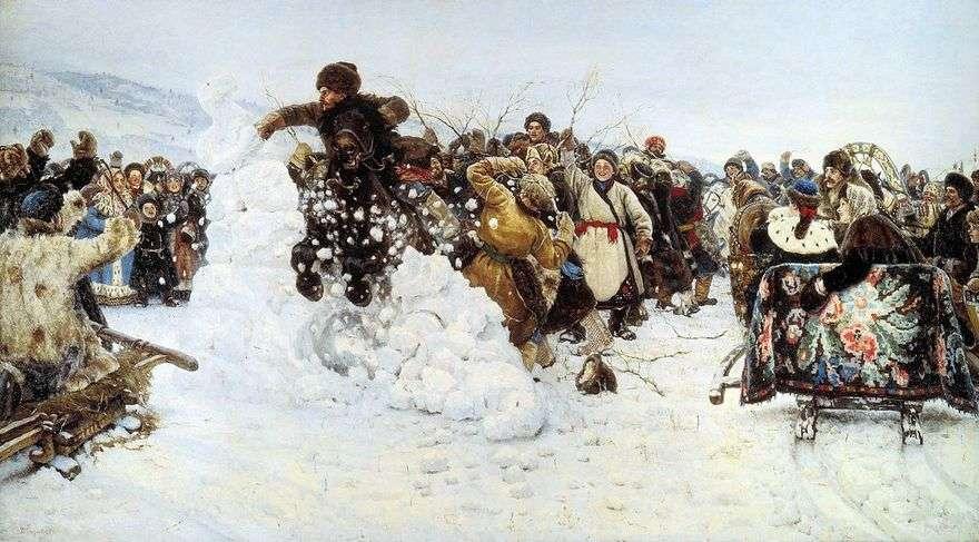 أخذ مدينة الثلج   فاسيلي سوريكوف