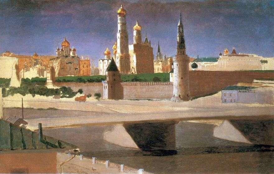 موسكو. منظر للكرملين من Zamoskvorechye   Arkhip Kuindzhi