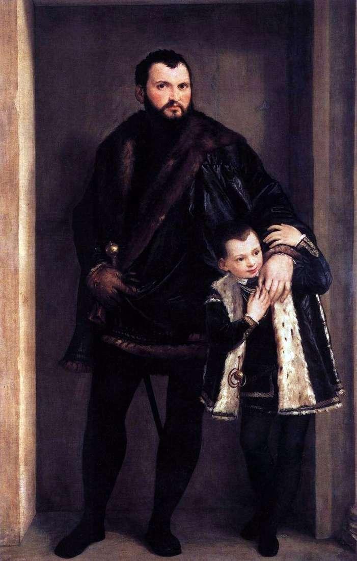 كومت دي بورتو مع ابنه أدريانو   باولو فيرونيسي