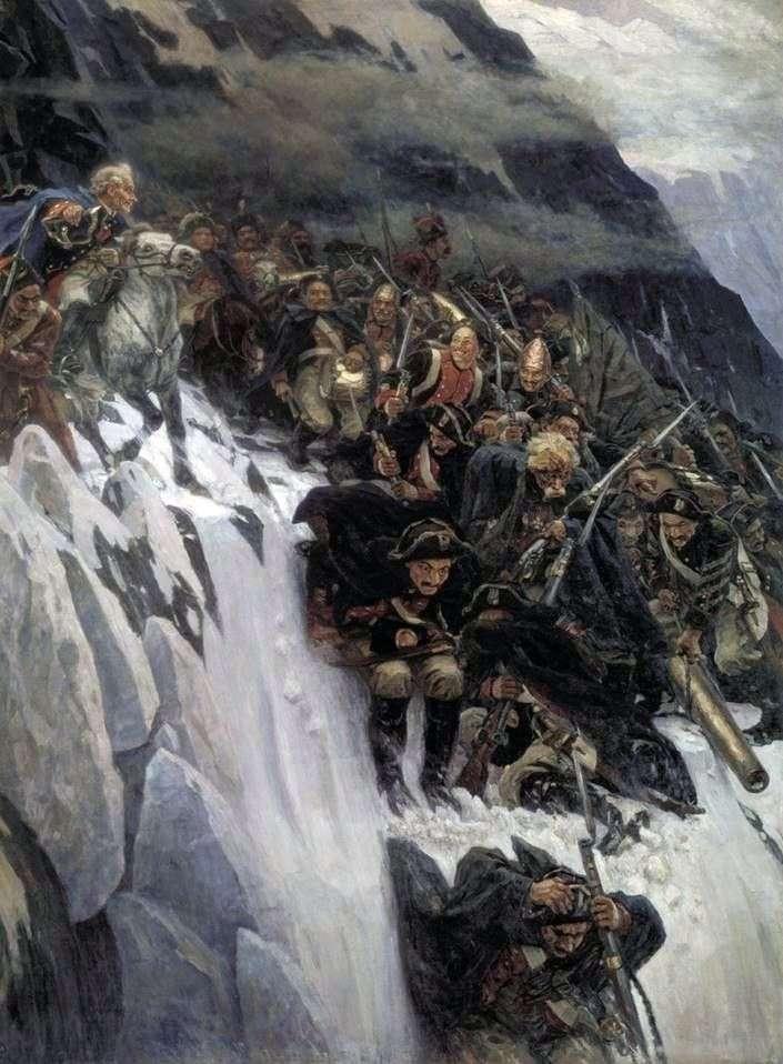 سوفوروف عبور جبال الألب   فاسيلي سوريكوف