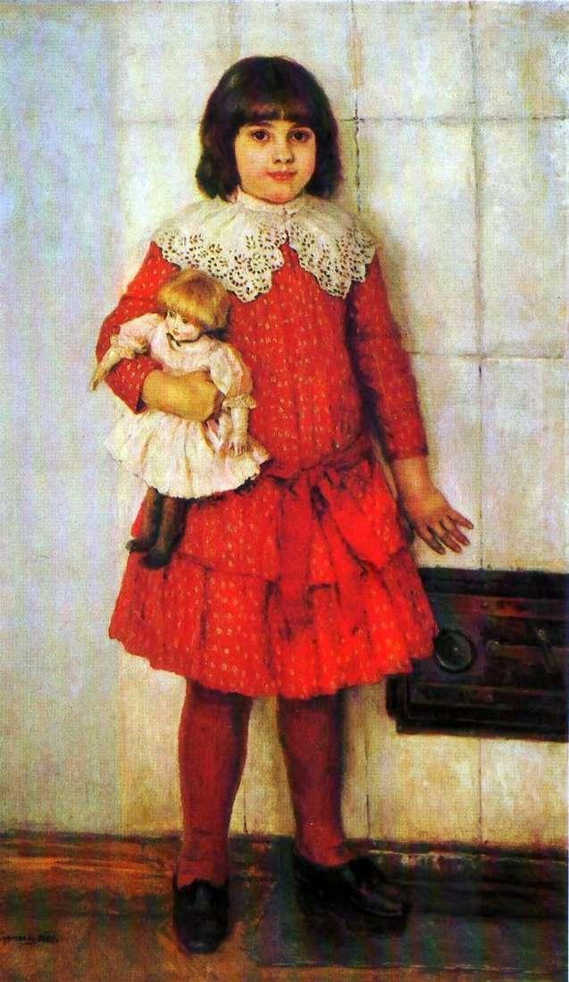 صورة ابنة عليا في الطفولة   فاسيلي سوريكوف