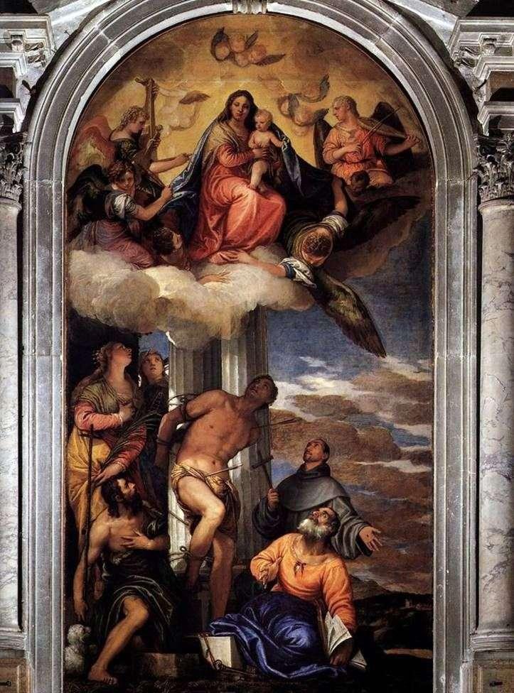 مادونا في المجد مع القديس سيباستيان والقديسين الآخرين   باولو فيرونيز