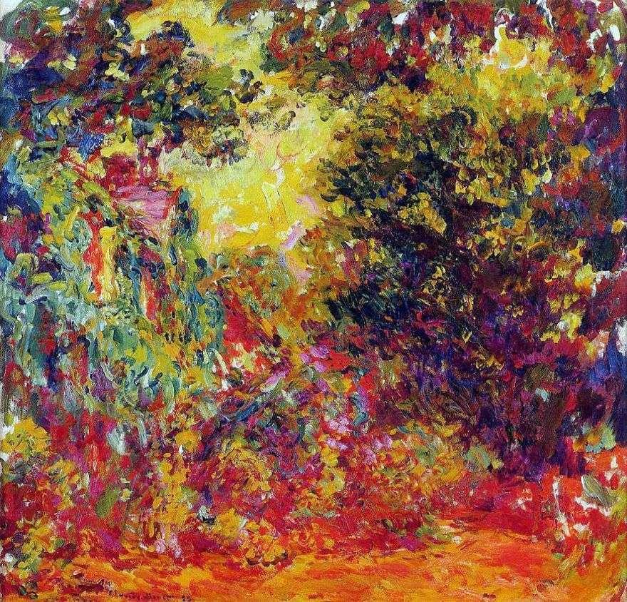بيت الفنانين ، منظر من حديقة الورود   كلود مونيه