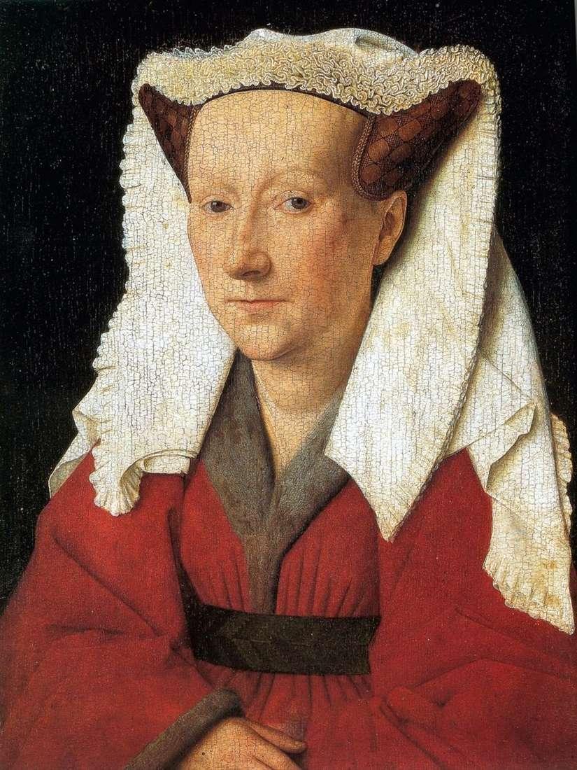 صورة زوجة مارغريت فان إيك   جان فان إيك