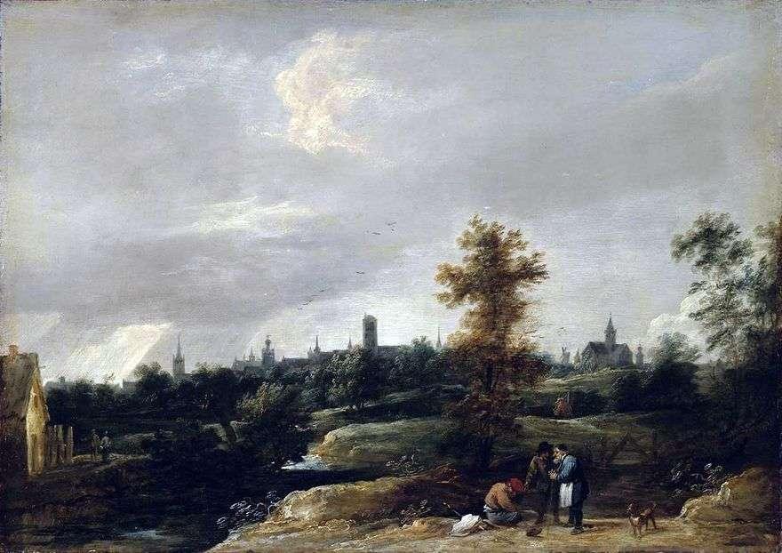 منظر لقرب بروكسل   David Teniers