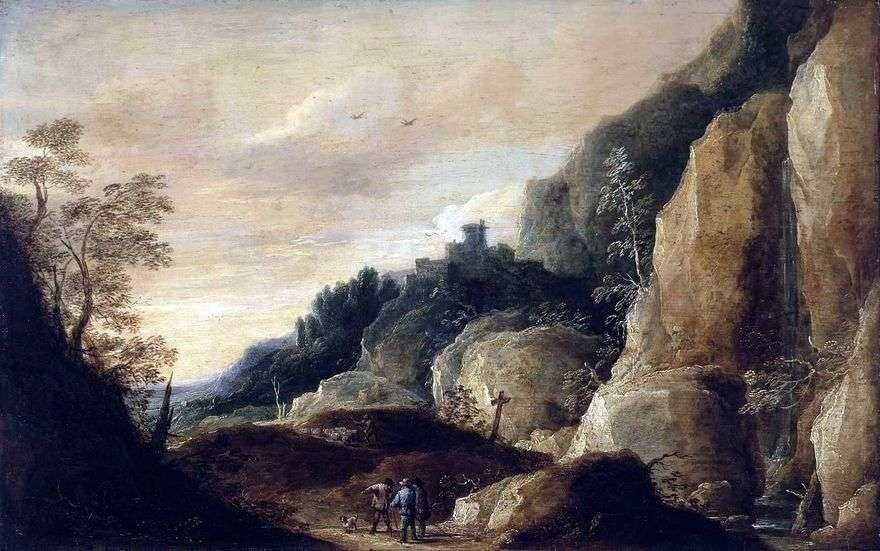 منظر للطبيعة الجبلية   ديفيد تينيرز
