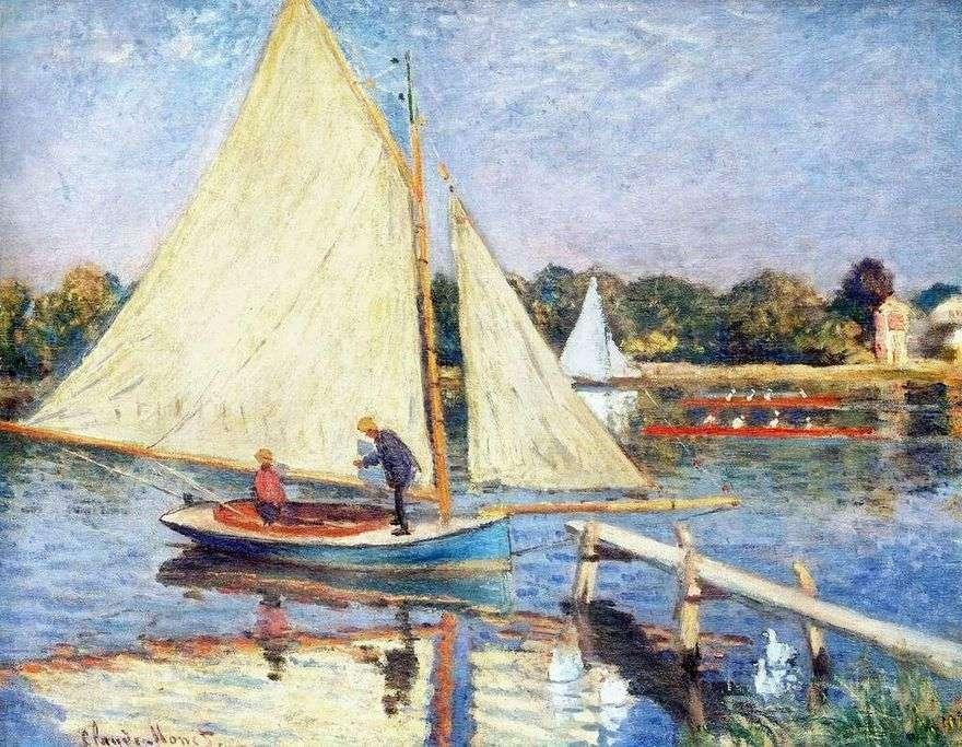قوارب بالقرب من Argenteuil   كلود مونيه
