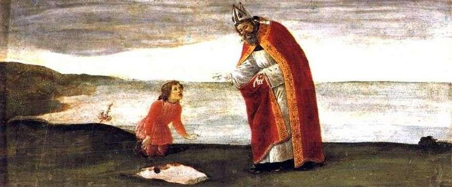 رؤية القديس أوغسطين   ساندرو بوتيتشيلي
