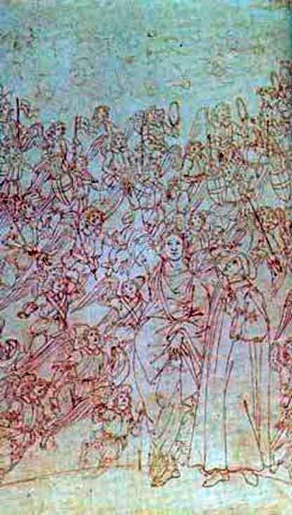 دانتي و بياتريس ، من الكوميديا الإلهية   ساندرو بوتيتشيلي