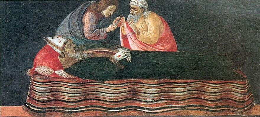 استخراج قلب القديس اغناطيوس   ساندرو بوتيتشيلي
